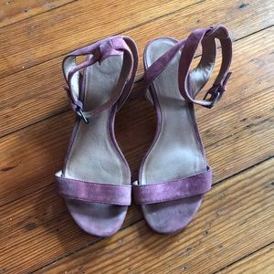 Madewell suede sandals in dusty pink size 8
